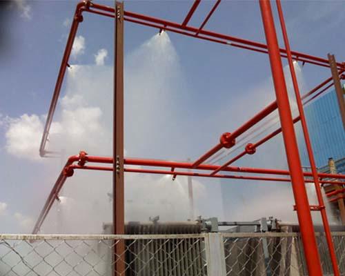 High speed water spray